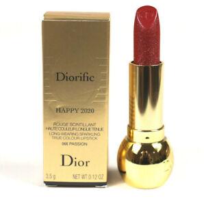 Dior Diorific Happy 2020 Passion 066 Long Wear Sparkling True Color Lipstick NIB