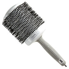 "Olivia Garden Round Thermal Hair Brush 4.25"" White and Silver CI-80"