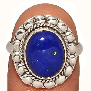 Lapis - Afghanistan 925 Sterling Silver Ring Jewelry s.7 AR211516 112Y