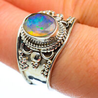 Ethiopian Opal 925 Sterling Silver Ring Size 8.25 Ana Co Jewelry R40225F