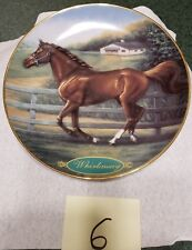 Whirlaway Danbury Mint 1997 by Susie Morton Collector Plate No A1664