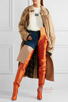 Winter Women Pointed Toe Waist High Over the Knee Boots Plus Size Loose Boots