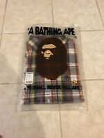 Rare A Bathing Ape Plaid Button Up Brand New 100% Authentic