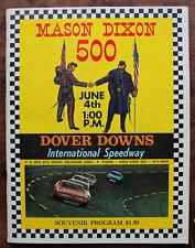 """1972 Dover Downs """"Mason Dixon 500"""" Souvenir Program"""