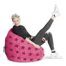 Magma Sitzsack BeanBag FLUFFY STARS XL pink 70x110 cm Vol: 220 Liter