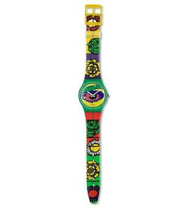 Swatch Gent Original GG128 MOUSE RAP Watch 1994 Collection