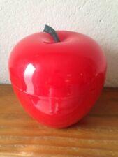 BAC à Glaçons  Pomme  rouge   Seau à glace an 70's  pop