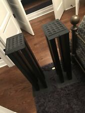 Atlantis Speaker Stands 28 Imches 1 Pair Sand Filled Woth Oroginal Box