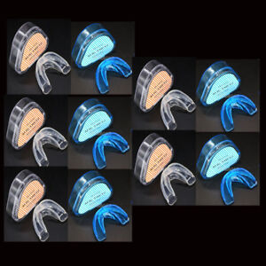 50X Dental Orthodontic Teeth Corrector Brace Retainer Transparent Hard+Soft Blue