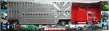 NEWRAY-KENWORTH w900 US-Camion avec Livestock CARAVANE 1:32/Piste 1 NOUVEAU/Neuf dans sa boîte Farm