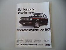 advertising Pubblicità 1980 FIAT 127 SPORT