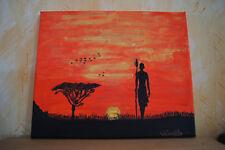 Tableau peinture à l'huile déco style africian