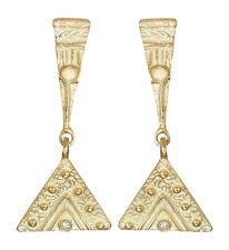 Lange Ohrhänger Gold 750 massiv Brillant Ohrstecker Designer Ohrringe 18 kt Gold