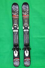 BUZZ Atom BLK RED 99 cm Skis inc Release Bindings Snowblades mini ski blades