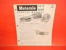 1951 1952 1953 DODGE PICKUP TRUCK MOTOROLA 6 VOLT AM RADIO SERVICE SHOP MANUAL