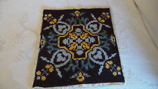 """Vintage NORWEGIAN WOOL EMBROIDERED MAT Pillow Top 18""""x20"""""""