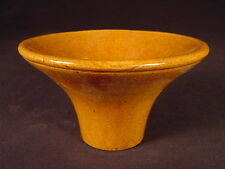 VERY RARE 1800s CANNING JAR FUNNEL FILLER ROCKINGHAM GLAZE YELLOW WARE