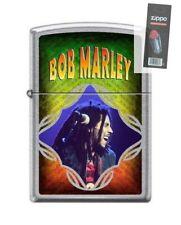 Zippo 8275 Bob Marley Street Chrome Finish Full Size Lighter + FLINT PACK