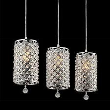 3 X Modern Crystal Ceiling Lights Pendant Lamp Chandelier Fixture Home Decor
