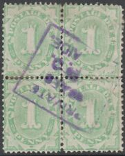 Stamps Australia postage due 1d green SGD54 large crown over A watermark block 4
