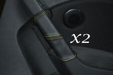 YELLOW STITCH FITS VW GOLF MK6 6 VI 2008-2013 2X REAR DOOR HANDLE LEATHER COVERS