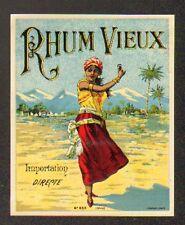 ETIQUETTE de RHUM / RHUM VIEUX / DANSEUSE ANTILLAISE
