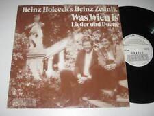 LP/HEINZ HOLECEK/HEINZ ZEDNIK/WAS WIEN IS/LIEDER UND DUETTE/Preiser  135030 VG+