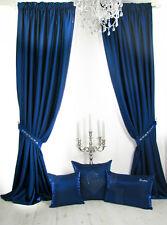 Vorhänge, 1 Fertig-Vorhang, *Festive Blue*, Nachtblau, edel sanft changierend