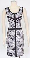 Rampage Animal Print Black Dress Size M Polyester Cut Out Back Women's New*