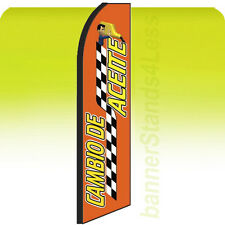 Feather Swooper Flutter 11.5 ft Banner Sign Flag Oil Change CAMBIO DE ACEITE rq