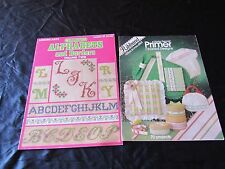 Lot 2 Vintage Cross Stitch-Charted Alphabets and Borders Vol 2,Primer Designs