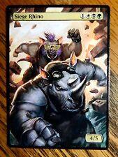 Magic the Gathering Mtg altered art Rocksteady and Bebop Siege Rhino