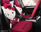 New Hello Kitty Car Cute Universal Car Seat Covers Seat Cushion Cotton Red 003