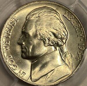 1944-P Jefferson Nickel PCGS MS66 Silver War Nickel Lustrous Gem!