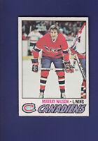 Murray Wilson 1977-78 O-PEE-CHEE OPC Hockey #69 (NM) Montreal Canadiens