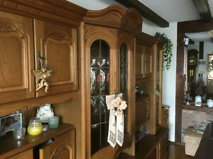 Wohnzimmerschrank eiche rustikal 320cm