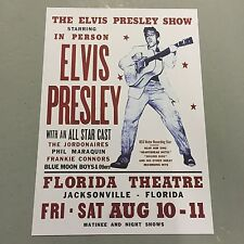 ELVIS PRESLEY - CONCERT POSTER FLORIDA 10th & 11th AUGUST ( A3 SIZE )