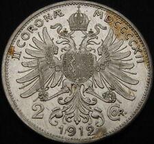 AUSTRIA 2 Corona 1912 - Silver - Franz Joseph I - aUNC - 3921 ¤