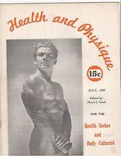 Health & Physique bodybuilding muscle magazine/Jack Donovan 7-40 vol 3 #1