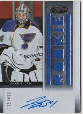 Jake Allen 2012-13 Certified Rookie Jersey Auto 135/499 Blues Montreal Canadiens