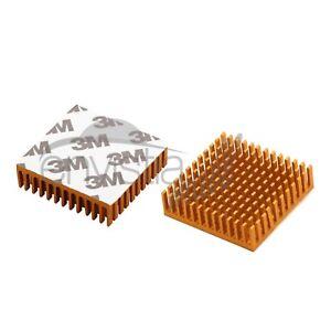 2 Pcs 40 x 40 x 11mm Aluminum Heatsink w/ Thermal tape for TEC CPU ICs US