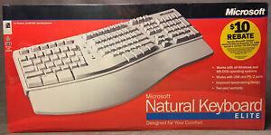 New Microsoft Natural Keyboard Elite PS/2 USB Ergonomic Split Keyboard 286-00082