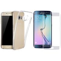 Cristal Templado + Funda Silicona Para Samsung Galaxy S6 Edge SM-G925F