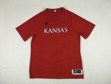 adidas Kansas Jayhawks - Men's Red Short Sleeve Shirt (XL+2) - Used