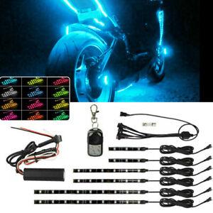 For Bajaj Benelli BETA 6X RGB LED Motorcycles Under Glow Lights Strips Universal