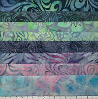 8 FAT QUARTERS PASTEL & GREY SAMPLER BATIKS LUNN FABRIC SPECIAL EDITION QUARTER
