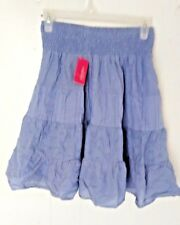 classic xhilaration smocked waist skirt size s  Tiered Peasant