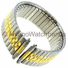16-22mm Speidel Stainless & Gold Two Tone Twist-O-Flex Mens Watch Band 1257/16