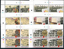 Bermuda 2016 The Great War 6v PLATE BLOCKS MNH