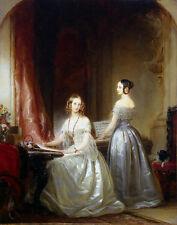 картина Кристина Робертсон - две красивые молодые девушки играют на пианино